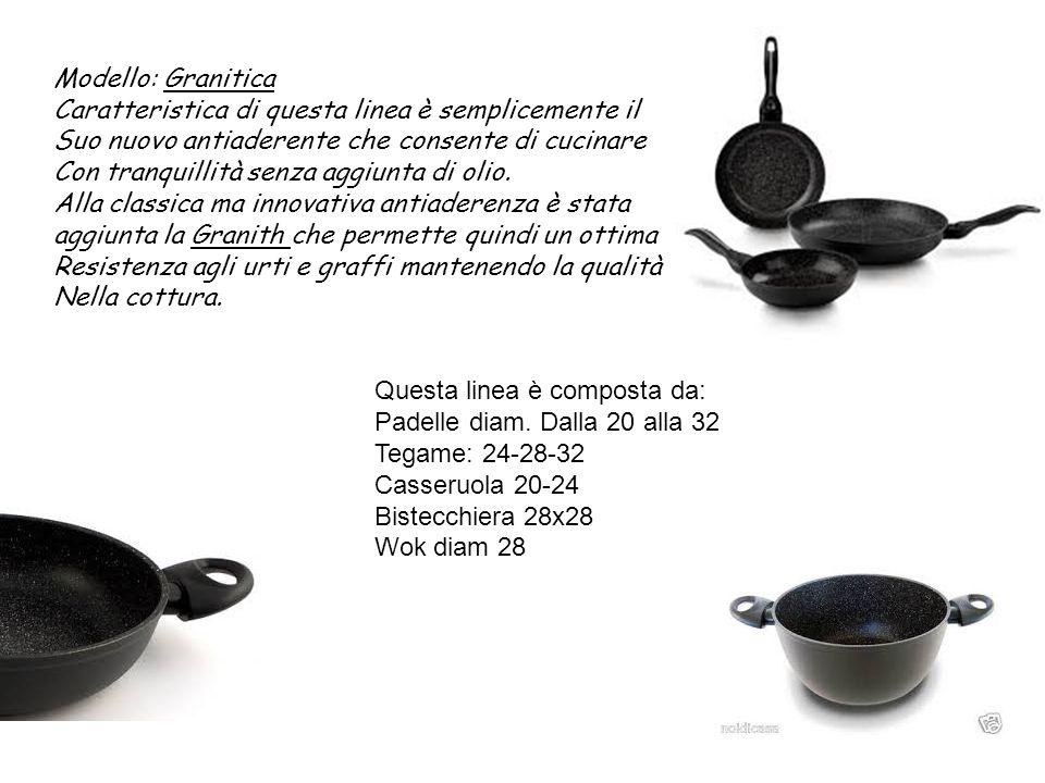 Modello: Granitica Caratteristica di questa linea è semplicemente il Suo nuovo antiaderente che consente di cucinare Con tranquillità senza aggiunta d