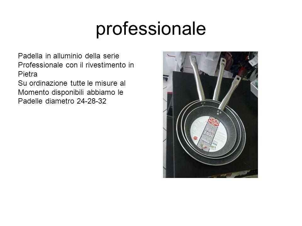 professionale Padella in alluminio della serie Professionale con il rivestimento in Pietra Su ordinazione tutte le misure al Momento disponibili abbia