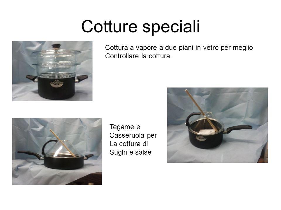 Cotture speciali Cottura a vapore a due piani in vetro per meglio Controllare la cottura. Tegame e Casseruola per La cottura di Sughi e salse