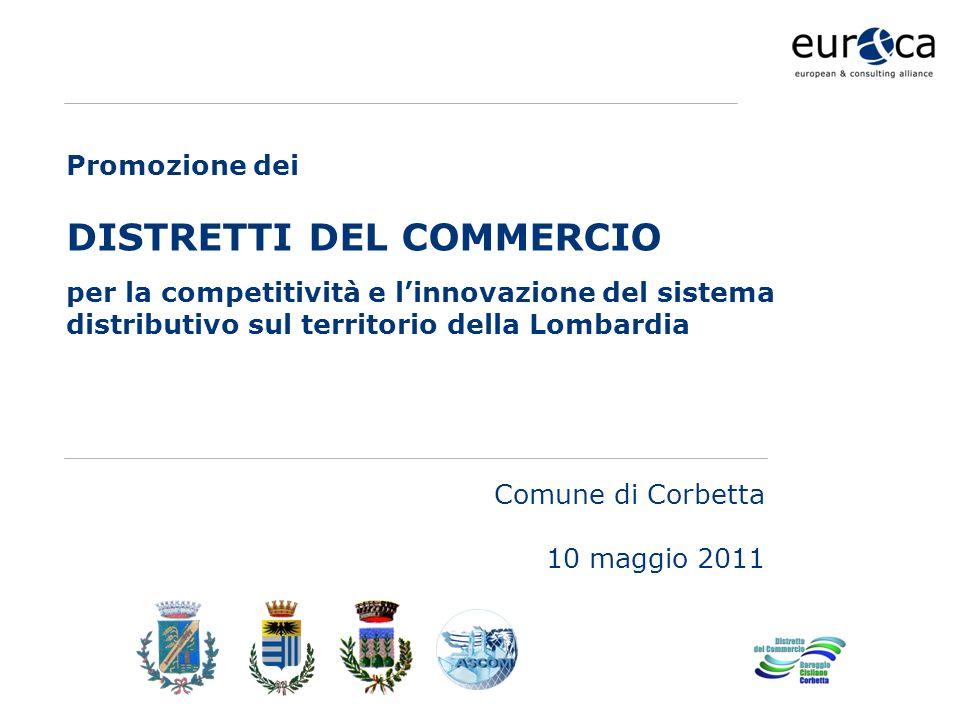 www.eurca.com Comune di Corbetta 10 maggio 2011 Promozione dei DISTRETTI DEL COMMERCIO per la competitività e linnovazione del sistema distributivo sul territorio della Lombardia