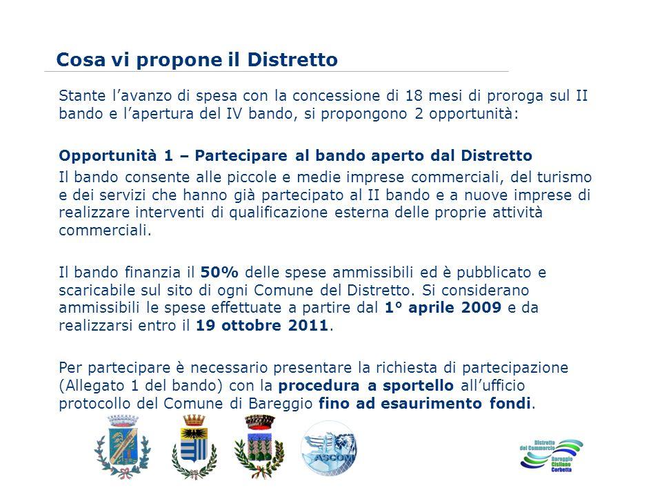 www.eurca.com Stante lavanzo di spesa con la concessione di 18 mesi di proroga sul II bando e lapertura del IV bando, si propongono 2 opportunità: Opp