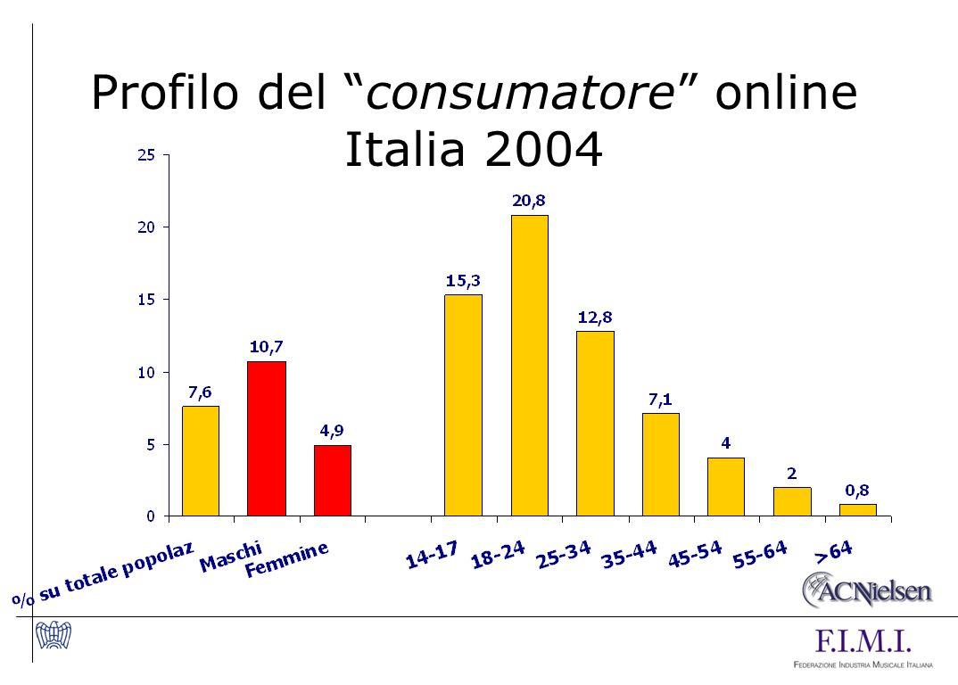 Profilo del consumatore online Italia 2004