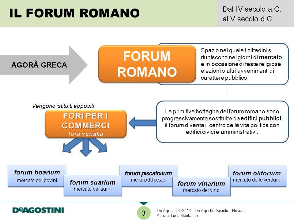 VIDEO La vita nel foro di Roma http://www.rai.tv/dl/RaiTV/programmi/media/ContentIt em-b867b45b-c6b1-4095-a1a1-7f97a8021583.html 4 IL FORO DI ROMA IERI E OGGI Incisione colorata di Theodor J.H.