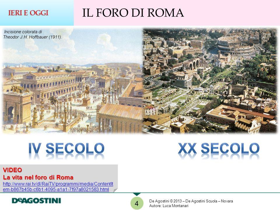 VIDEO La vita nel foro di Roma http://www.rai.tv/dl/RaiTV/programmi/media/ContentIt em-b867b45b-c6b1-4095-a1a1-7f97a8021583.html 4 IL FORO DI ROMA IER