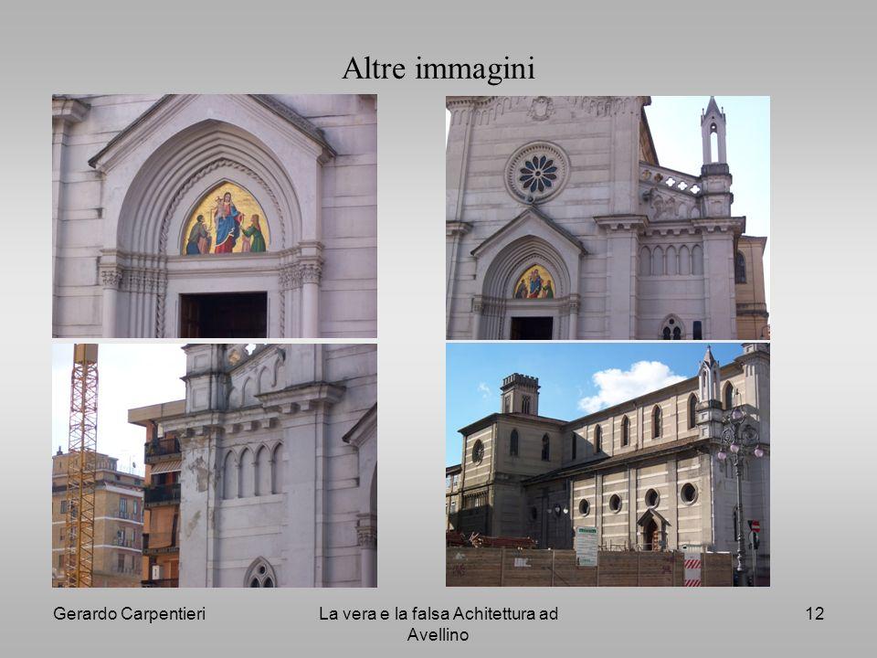 Gerardo CarpentieriLa vera e la falsa Achitettura ad Avellino 12 Altre immagini