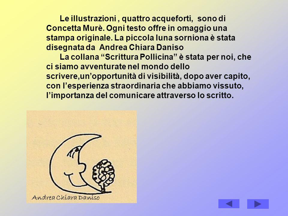Le illustrazioni, quattro acqueforti, sono di Concetta Murè.