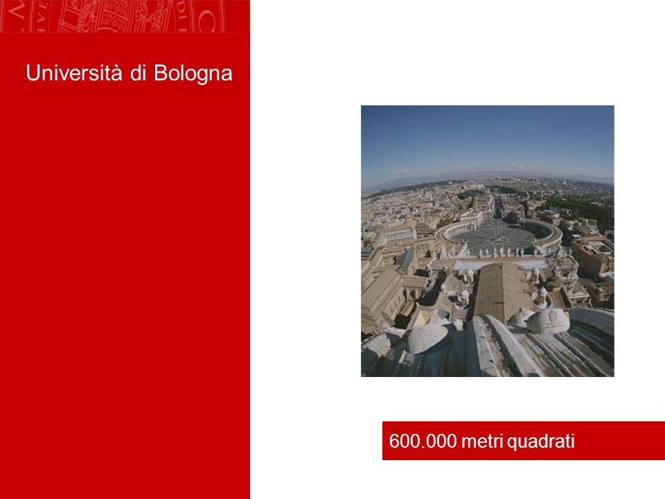 Università di Bologna 600.000 metri quadrati