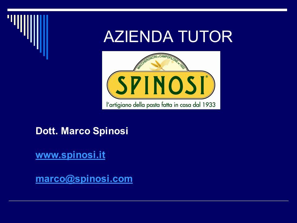 AZIENDA TUTOR Dott. Marco Spinosi www.spinosi.it marco@spinosi.com