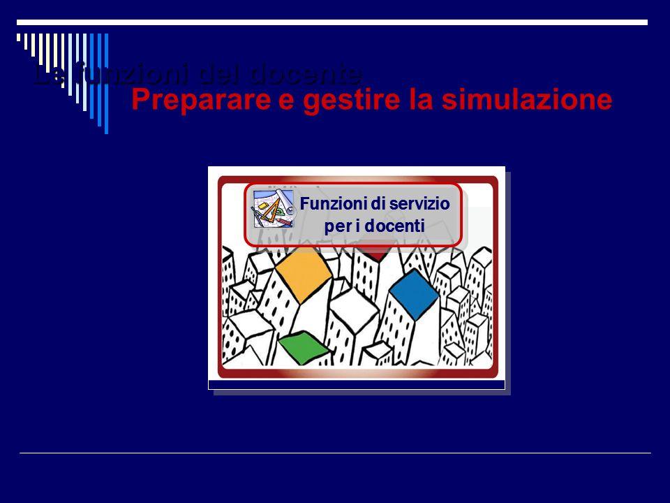 Le funzioni del docente Funzioni di servizio per i docenti Preparare e gestire la simulazione