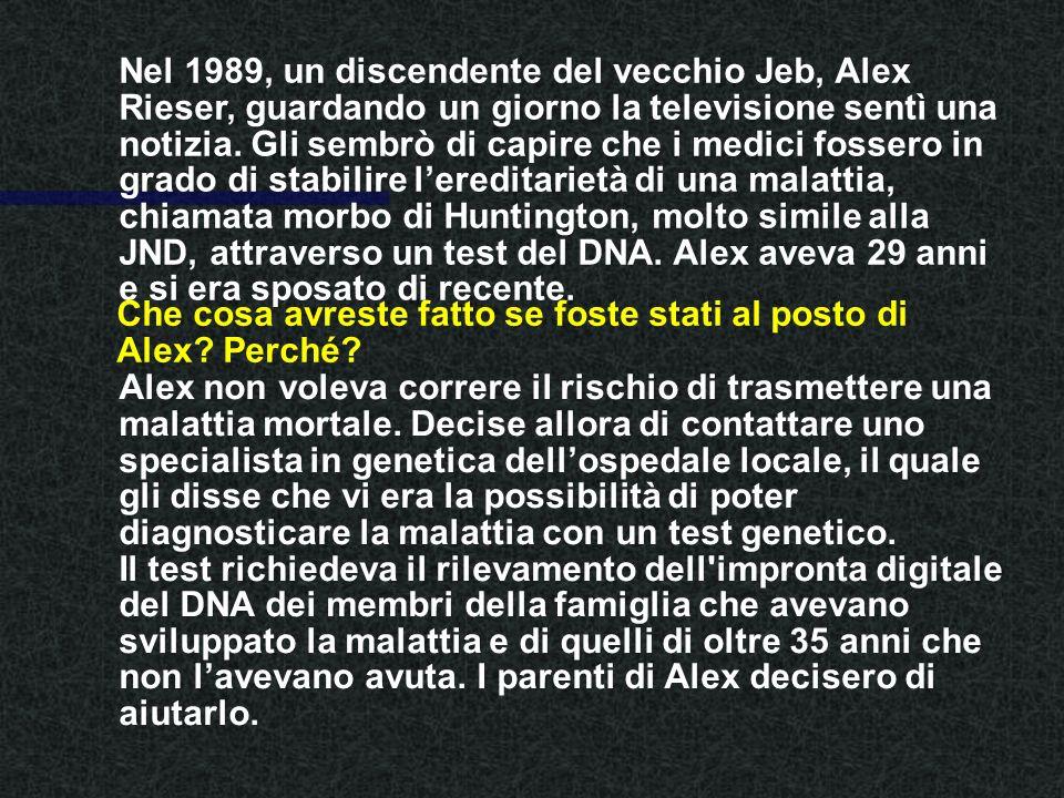 Nel 1989, un discendente del vecchio Jeb, Alex Rieser, guardando un giorno la televisione sentì una notizia.