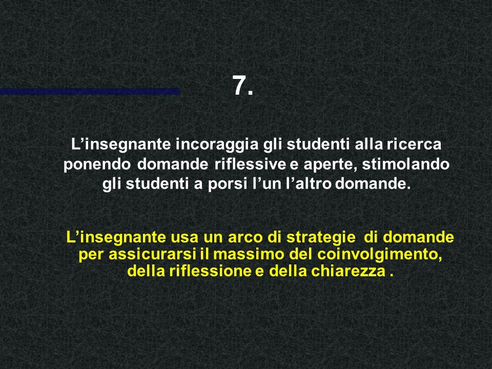 Linsegnante fornisce definizioni e spiegazioni usando esperienze precedenti degli studenti come base per questa discussione.