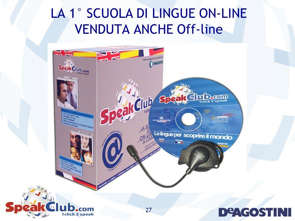 27 LA 1° SCUOLA DI LINGUE ON-LINE VENDUTA ANCHE Off-line