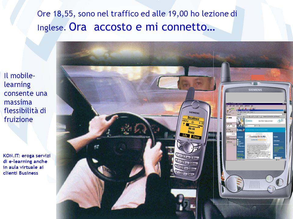 36 Il mobile- learning consente una massima flessibilità di fruizione Ore 18,55, sono nel traffico ed alle 19,00 ho lezione di Inglese. Ora accosto e