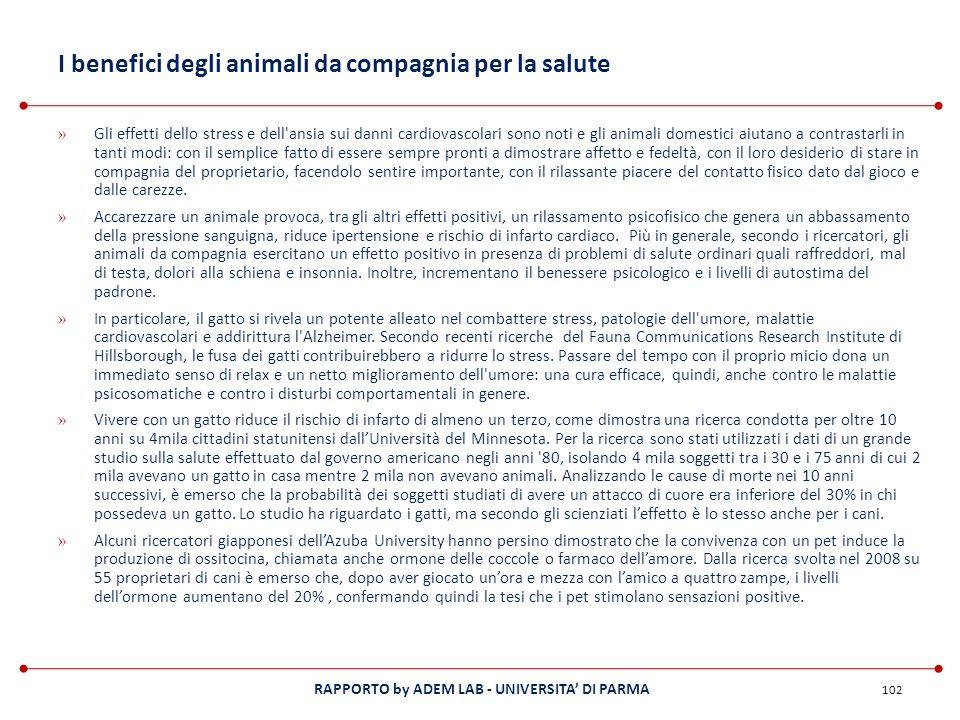 RAPPORTO by ADEM LAB - UNIVERSITA DI PARMA I benefici degli animali da compagnia per la salute » Gli effetti dello stress e dell'ansia sui danni cardi