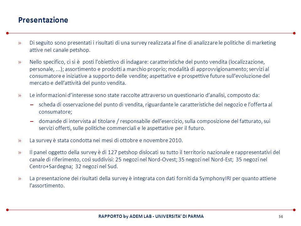 RAPPORTO by ADEM LAB - UNIVERSITA DI PARMA Presentazione » Di seguito sono presentati i risultati di una survey realizzata al fine di analizzare le po