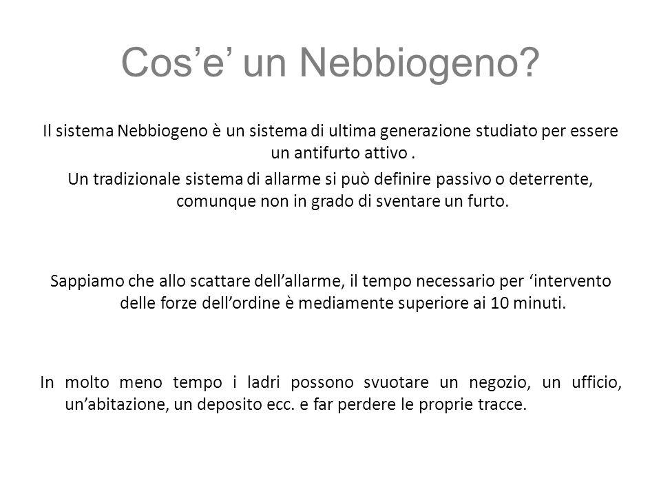 Come funziona.Il sistema Nebbiogeno è complementare e compatibile con tutti i sistemi di allarme.