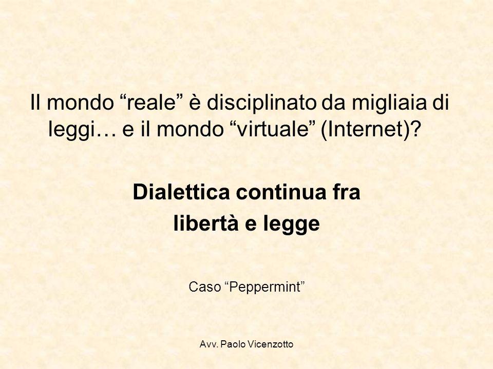 Avv. Paolo Vicenzotto Totò e Peppino… …e il commercio senza regole