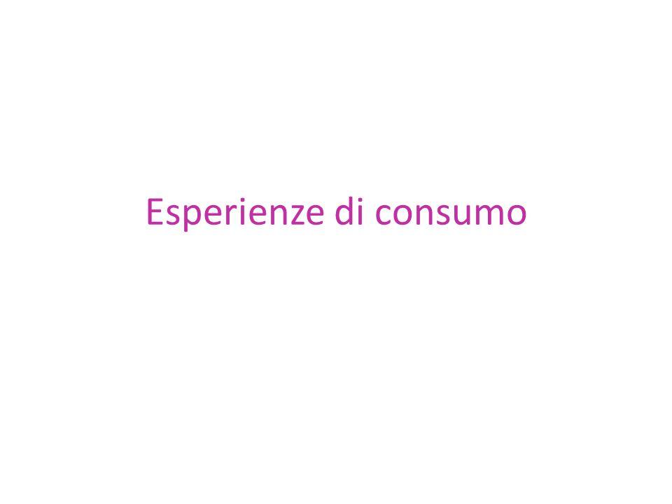 Esperienze di consumo