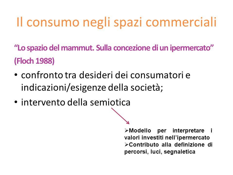 Il consumo negli spazi commerciali Lo spazio del mammut. Sulla concezione di un ipermercato (Floch 1988) confronto tra desideri dei consumatori e indi