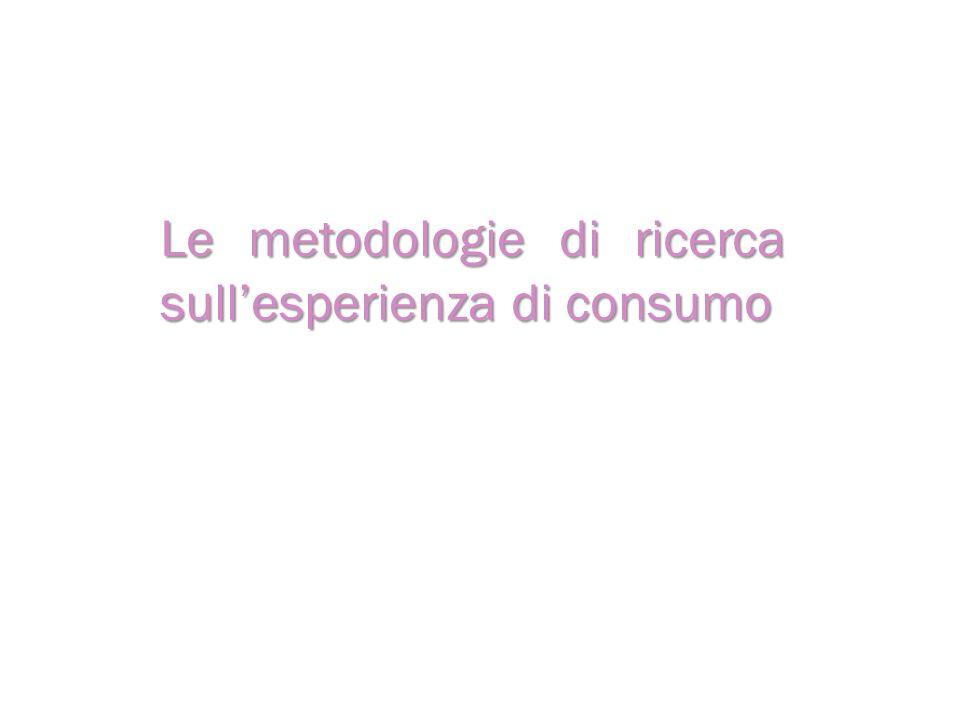 Le metodologie di ricerca sullesperienza di consumo