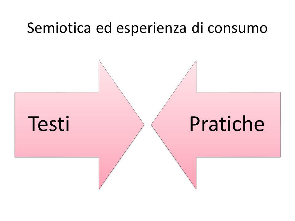 Semiotica ed esperienza di consumo TestiPratiche