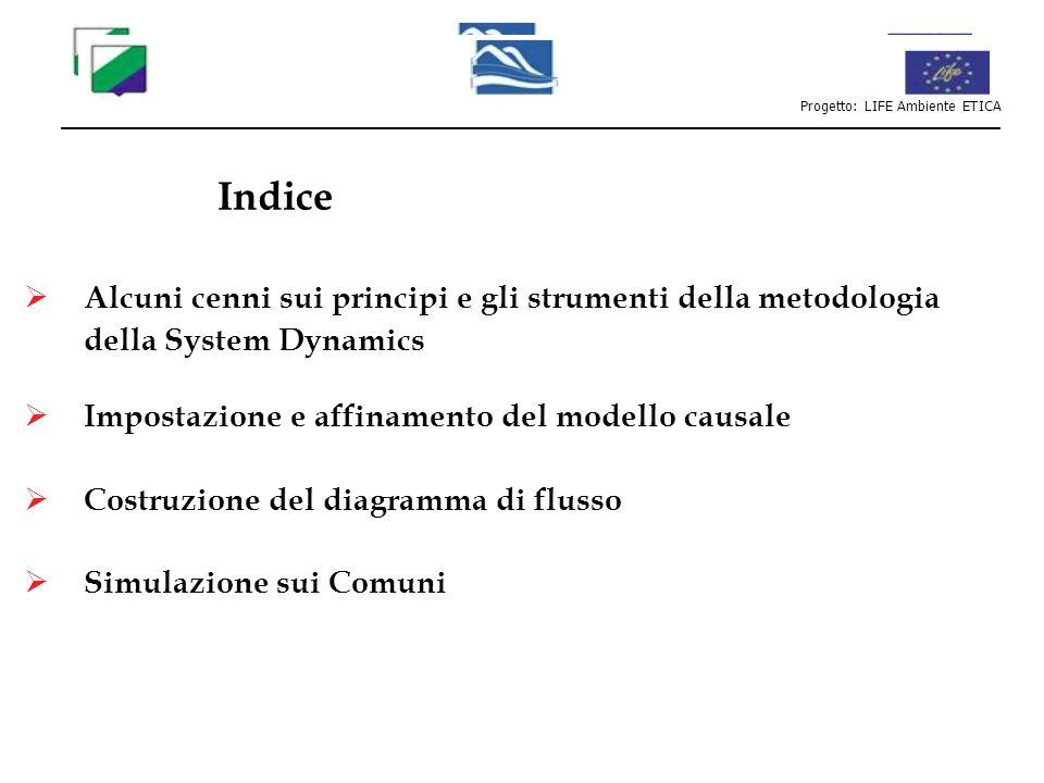Alcuni cenni sui principi e gli strumenti della metodologia della System Dynamics Impostazione e affinamento del modello causale Costruzione del diagr