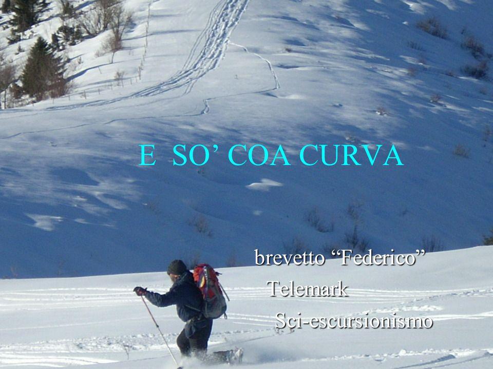 E SO COA CURVA brevetto Federico brevetto Federico Telemark Telemark Sci-escursionismo Sci-escursionismo