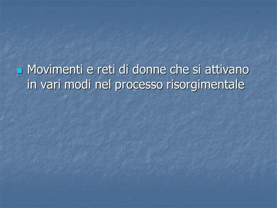 La cospirazione: le Giardiniere dItalia Furono la versione femminile della Carboneria e nacquero intorno agli anni dei primi moti rivoluzionari a Milano e a Napoli.