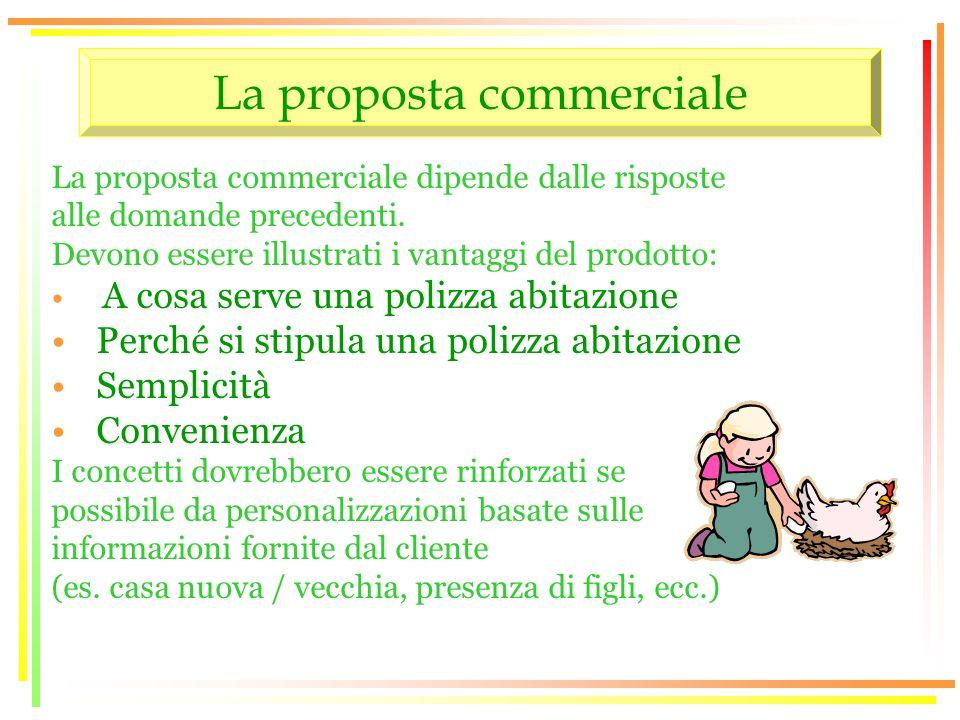 La proposta commerciale La proposta commerciale dipende dalle risposte alle domande precedenti.