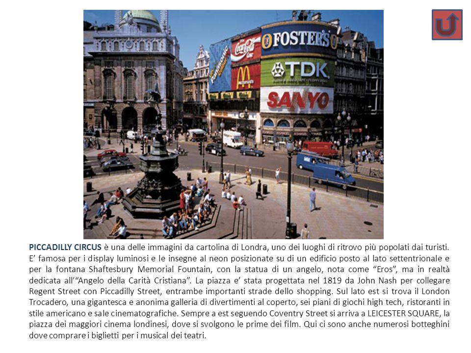 PICCADILLY CIRCUS è una delle immagini da cartolina di Londra, uno dei luoghi di ritrovo più popolati dai turisti. E famosa per i display luminosi e l