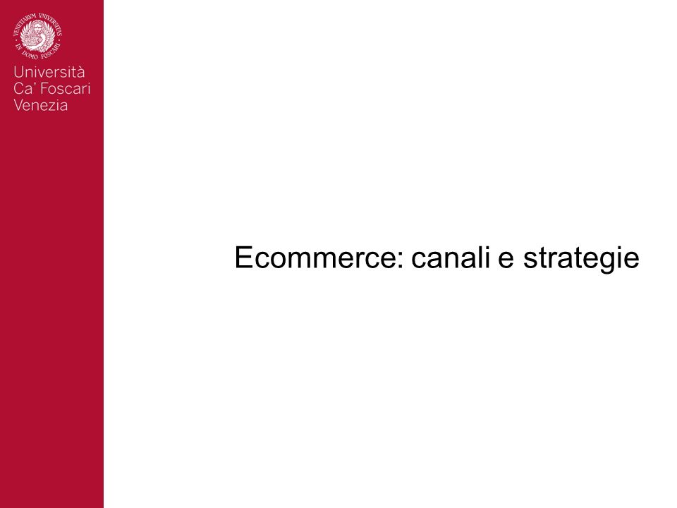 Ecommerce: canali e strategie
