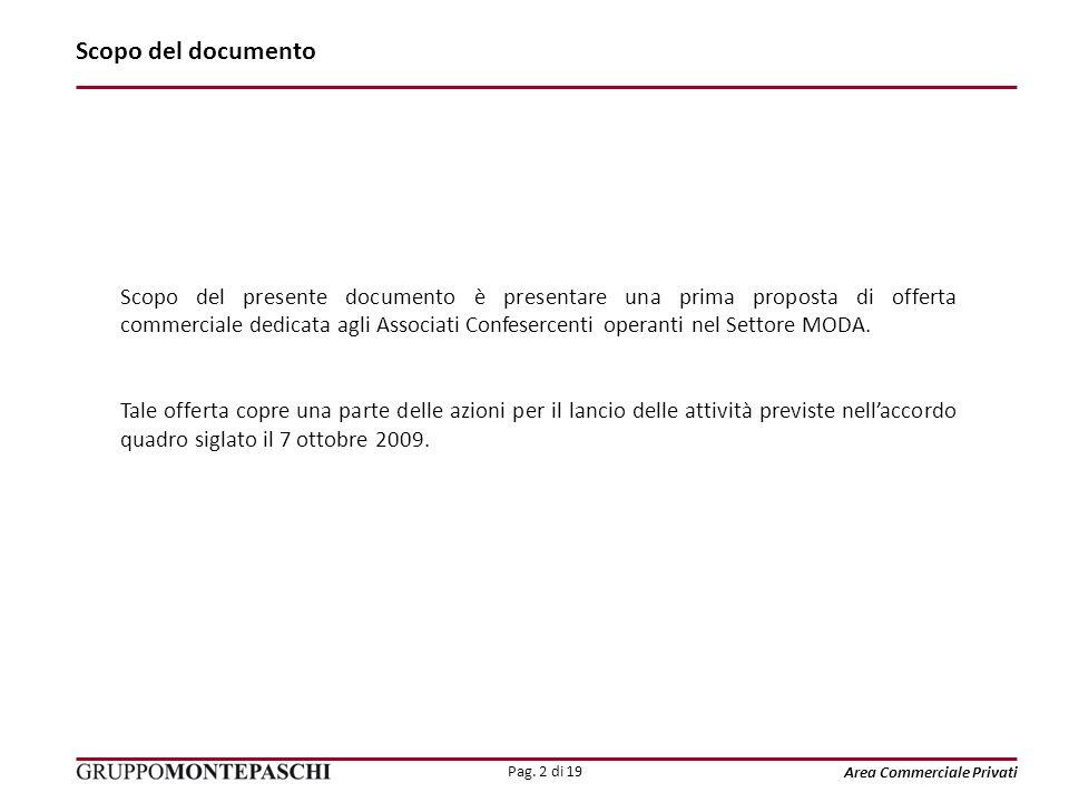 Pag. 2 di 19 Area Commerciale Privati Scopo del documento Scopo del presente documento è presentare una prima proposta di offerta commerciale dedicata