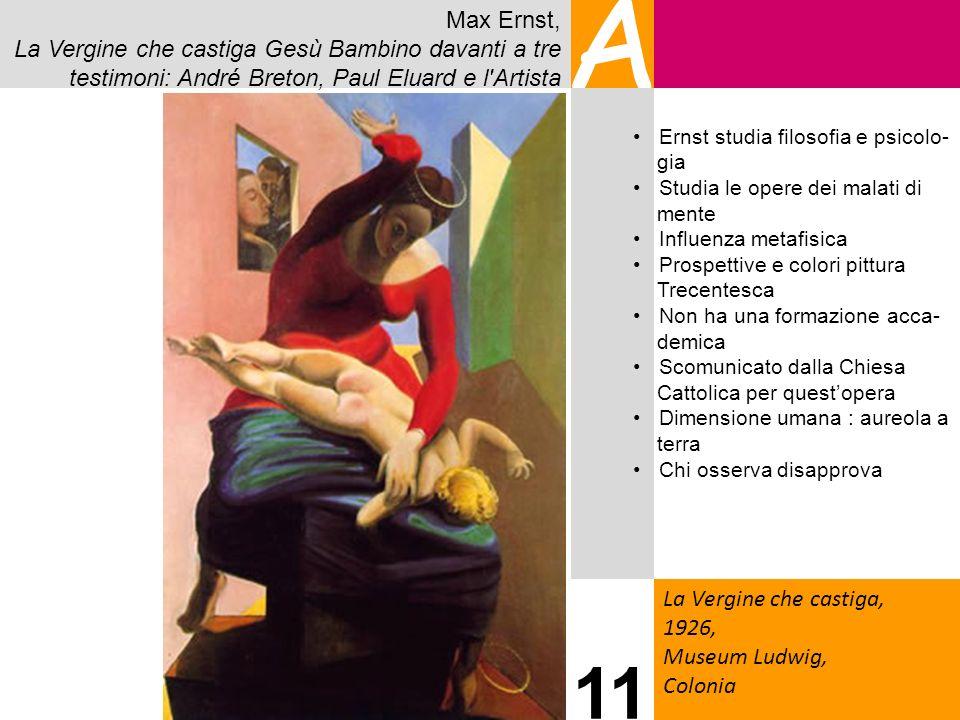 Max Ernst, La Vergine che castiga Gesù Bambino davanti a tre testimoni: André Breton, Paul Eluard e l'Artista A La Vergine che castiga, 1926, Museum L