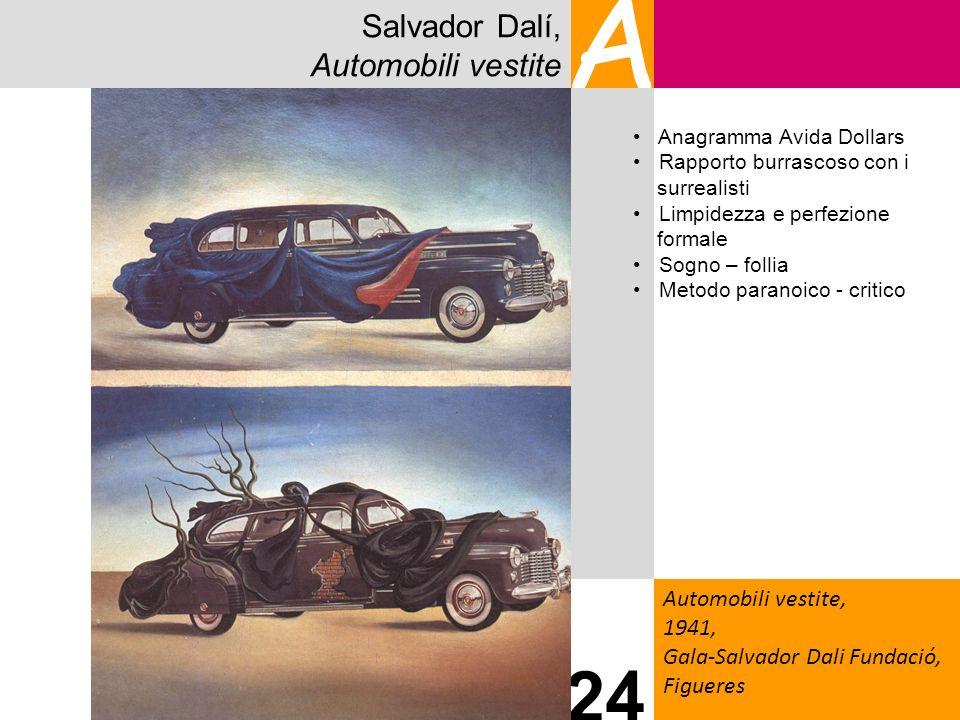 Salvador Dalí, Automobili vestite A Automobili vestite, 1941, Gala-Salvador Dali Fundació, Figueres 24 Anagramma Avida Dollars Rapporto burrascoso con