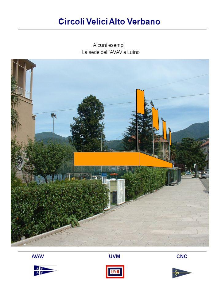 Circoli Velici Alto Verbano AVAV UVM CNC Alcuni esempi: - La sede dellAVAV a Luino