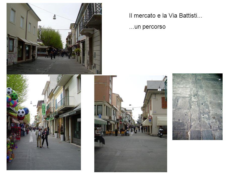Il mercato e la Via Battisti......un percorso