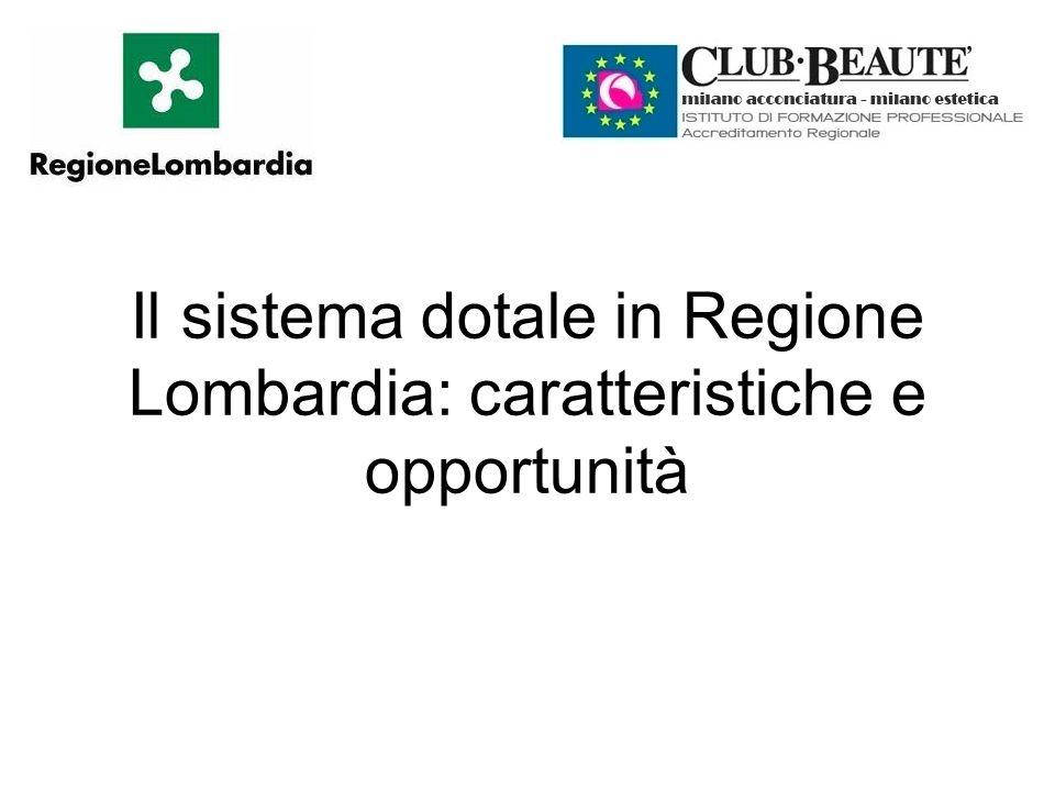 Il sistema dotale in Regione Lombardia: caratteristiche e opportunità