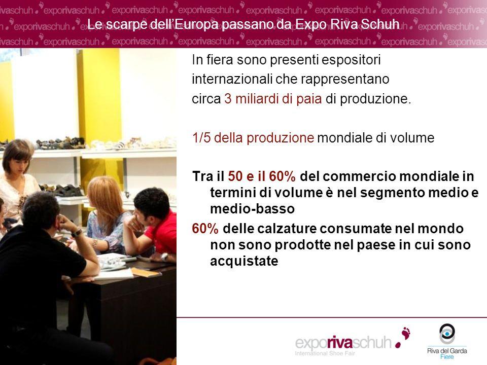 Le scarpe dellEuropa passano da Expo Riva Schuh In fiera sono presenti espositori internazionali che rappresentano circa 3 miliardi di paia di produzione.