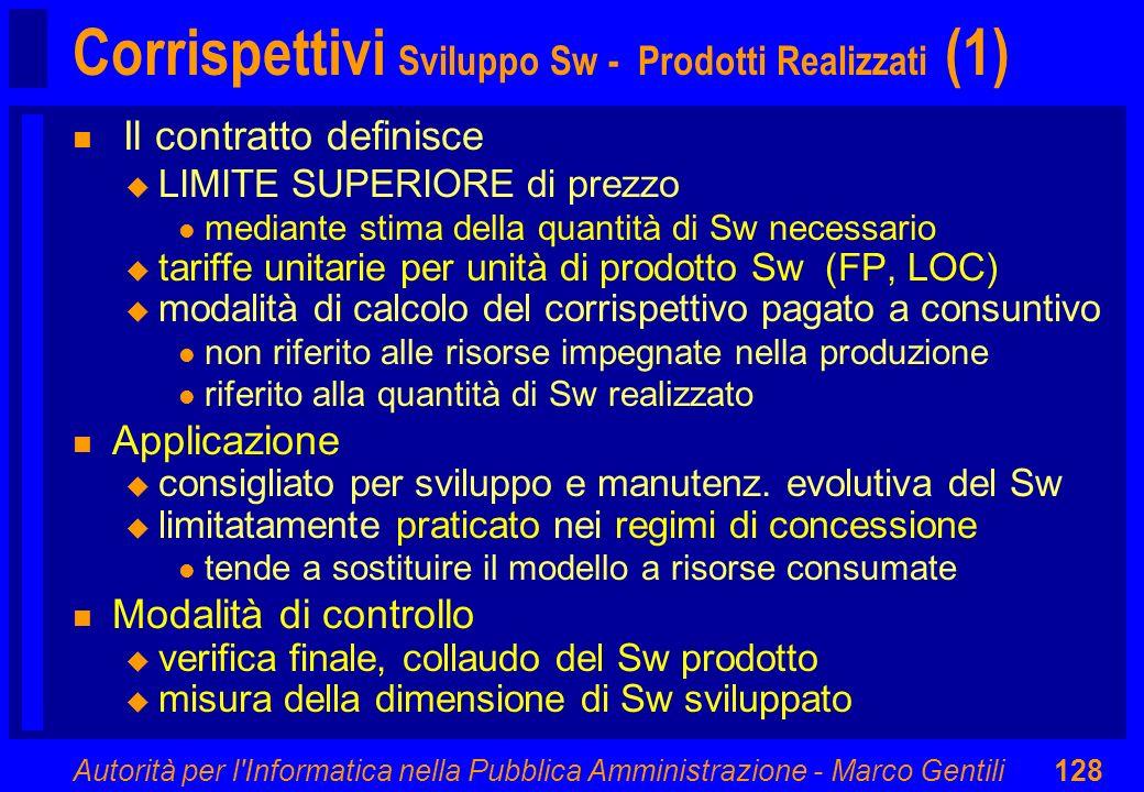 Autorità per l'Informatica nella Pubblica Amministrazione - Marco Gentili128 n Il contratto definisce u LIMITE SUPERIORE di prezzo l mediante stima de