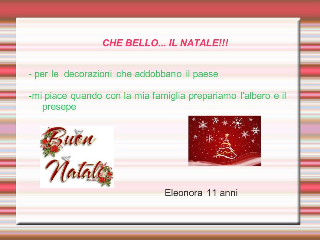 CHE BELLO... IL NATALE!!! - per le decorazioni che addobbano il paese -mi piace quando con la mia famiglia prepariamo l'albero e il presepe Eleonora 1