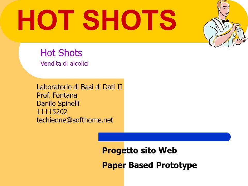HOT SHOTS Hot Shots Vendita di alcolici Laboratorio di Basi di Dati II Prof.