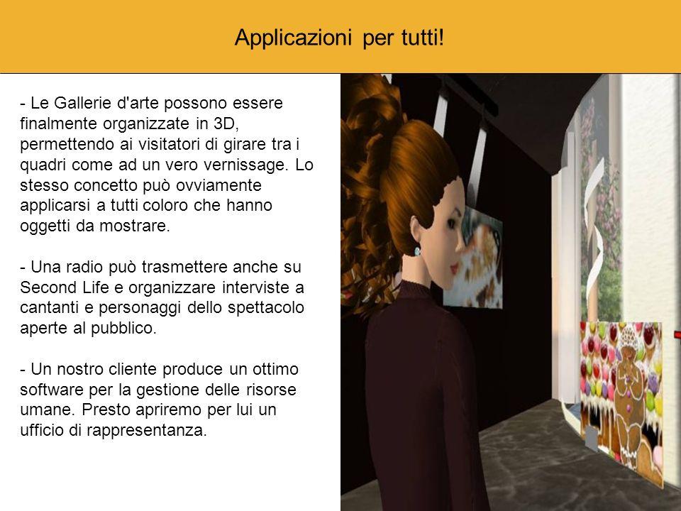 Applicazioni per tutti! - Le Gallerie d'arte possono essere finalmente organizzate in 3D, permettendo ai visitatori di girare tra i quadri come ad un