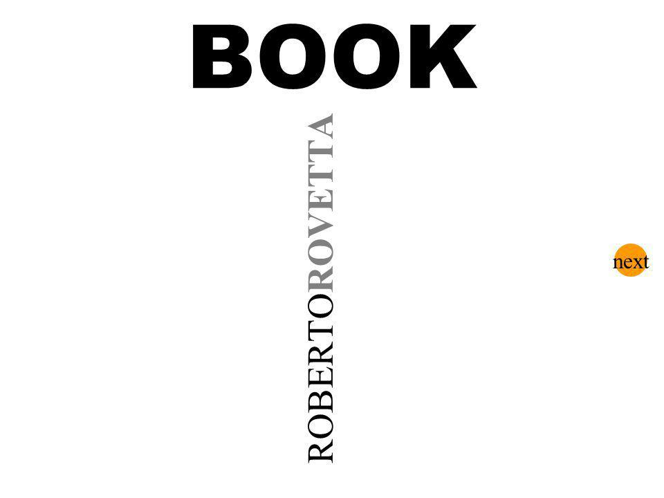 BOOK ROBERTOROVETTA next