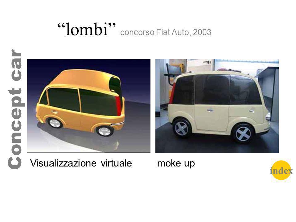 lombi concorso Fiat Auto, 2003 Concept car Visualizzazione virtuale moke up index