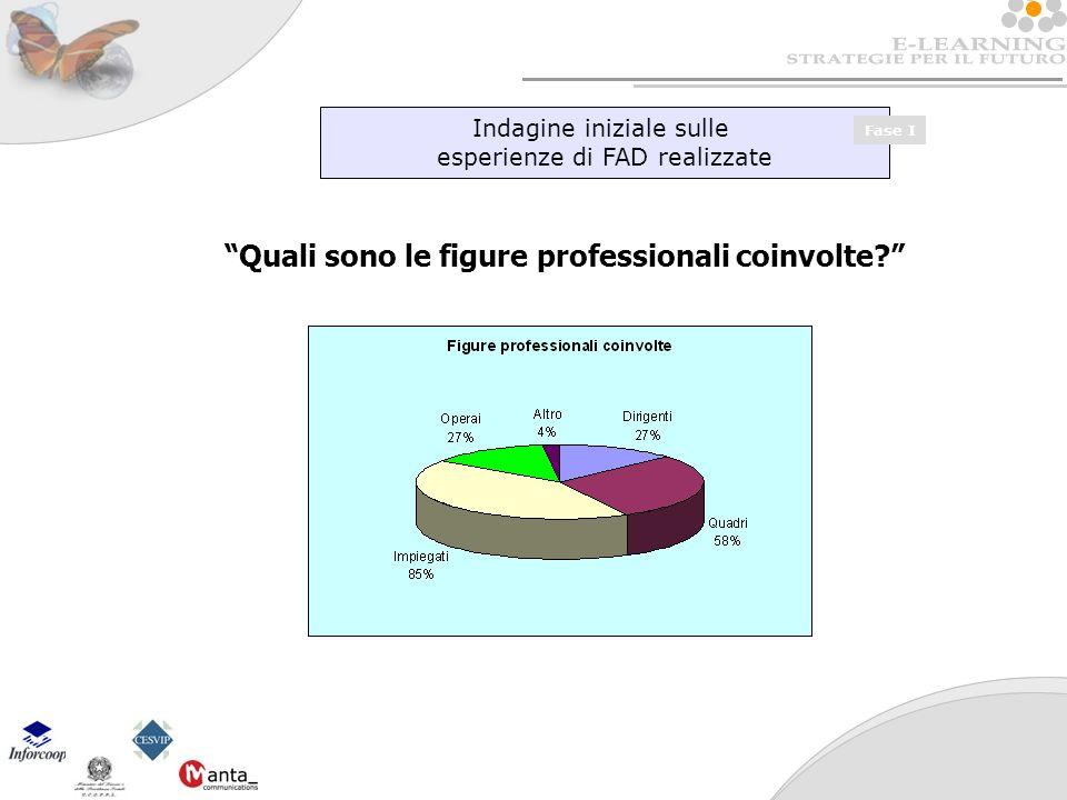 Indagine iniziale sulle esperienze di FAD realizzate Fase I Quali sono le figure professionali coinvolte