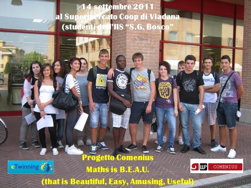 Progetto Comenius Maths is B.E.A.U.