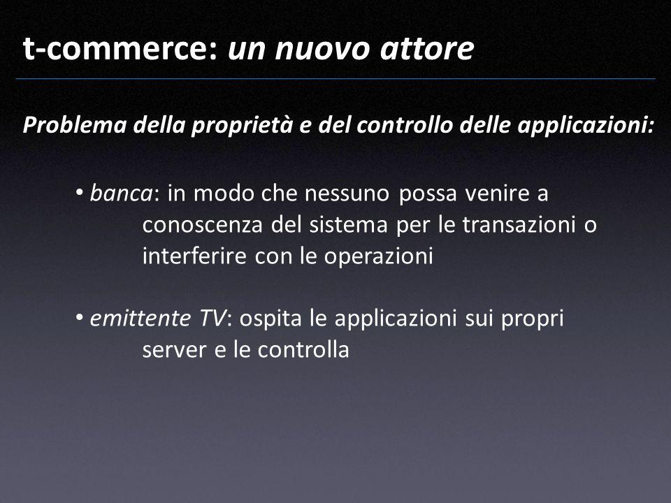 t-commerce: un nuovo attore banca: in modo che nessuno possa venire a conoscenza del sistema per le transazioni o interferire con le operazioni emitte