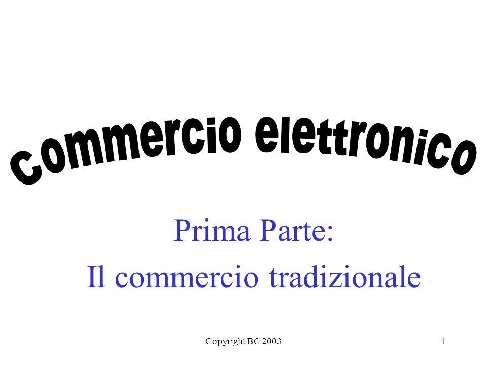 Copyright BC 20031 Prima Parte: Il commercio tradizionale