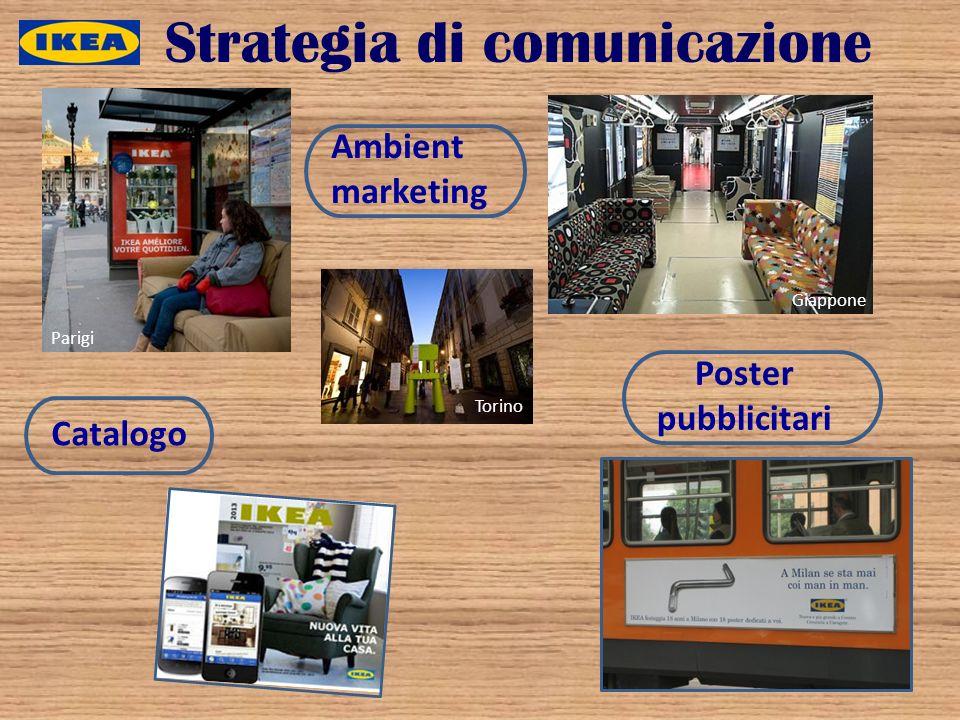 Strategia di comunicazione Ambient marketing Poster pubblicitari Catalogo Parigi Torino Giappone