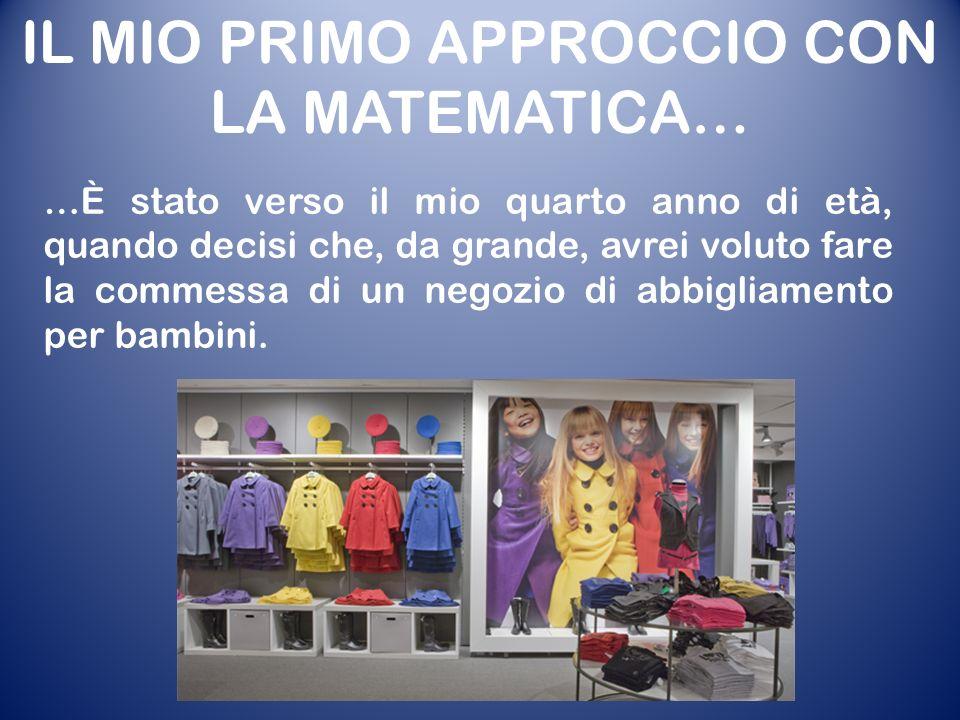 …È stato verso il mio quarto anno di età, quando decisi che, da grande, avrei voluto fare la commessa di un negozio di abbigliamento per bambini.